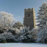 Ixworth Church in the snow