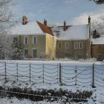 ixworth village in the snow