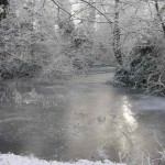 The Ixworth Moat in the snow