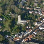Ixworth Church from the air