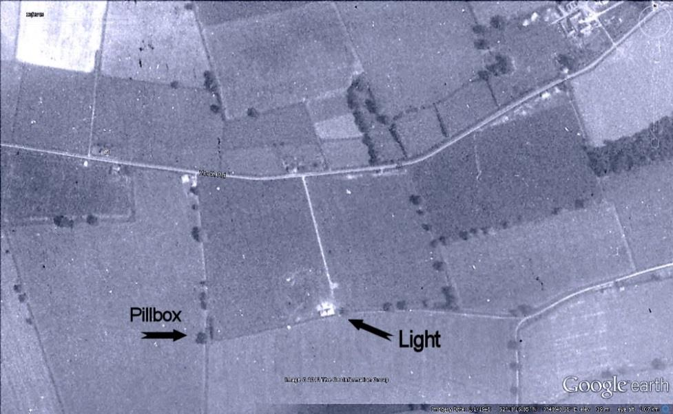 The searchlight site in 1945