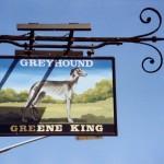 Sign of The Greyhound pub ixworth