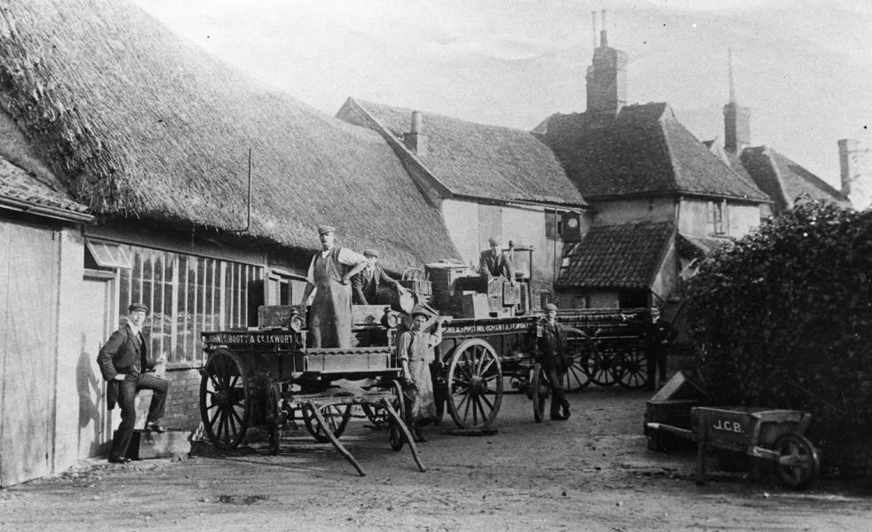 The rear of John C Booty's premises circa 1900