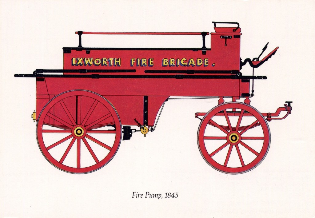 Ixworth's 1845 Fire Engine, Museum of East Anglian Life, Stowmarket